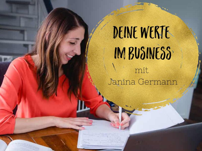 Werte im Business - Interview mit Janina Germann